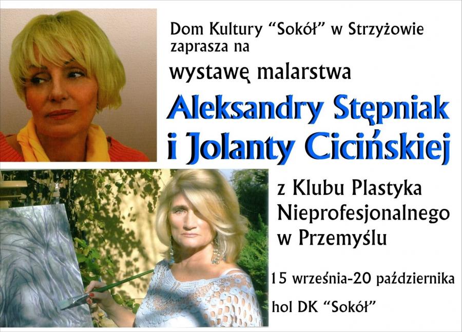 Wystawa obrazów Aleksandry Stępniak i Jolanty Cicińskiej