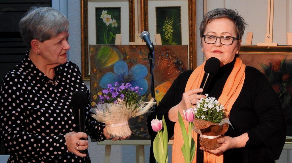 Spotkanie z autorkami wystawy  Aleksandrą Ciepielowską-Tabisz z Sanoka i Anną Munią z Krosna