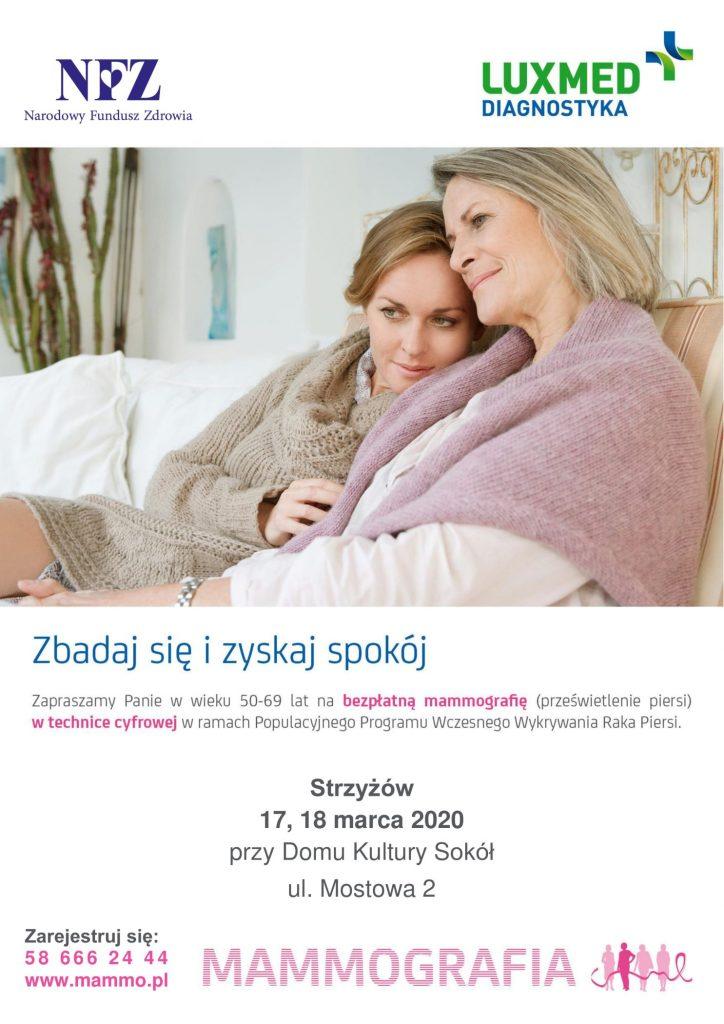 Bezpłatne badania mammograficzne dla kobiet w marcu – ODWOŁANE