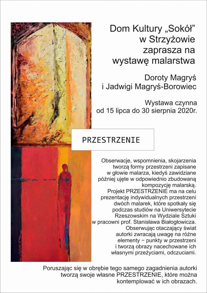 Wystawa malarstwa Doroty Magryś i Jadwigi Magryś – Borowiec