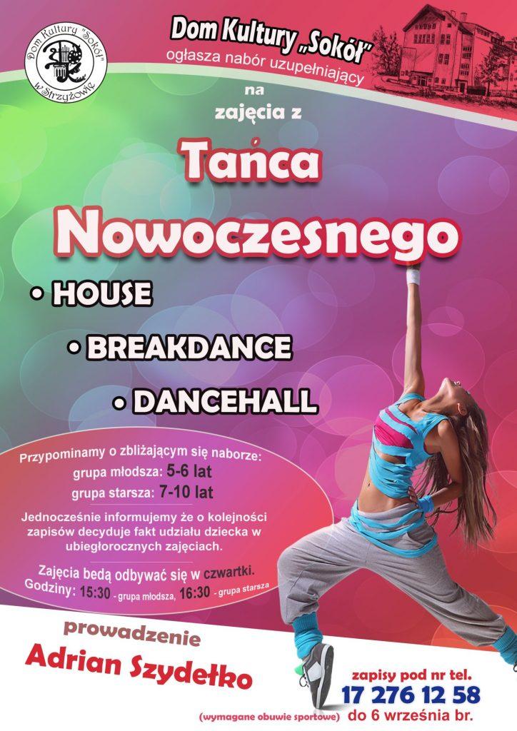 Taniec nowoczesny – nabór 2020