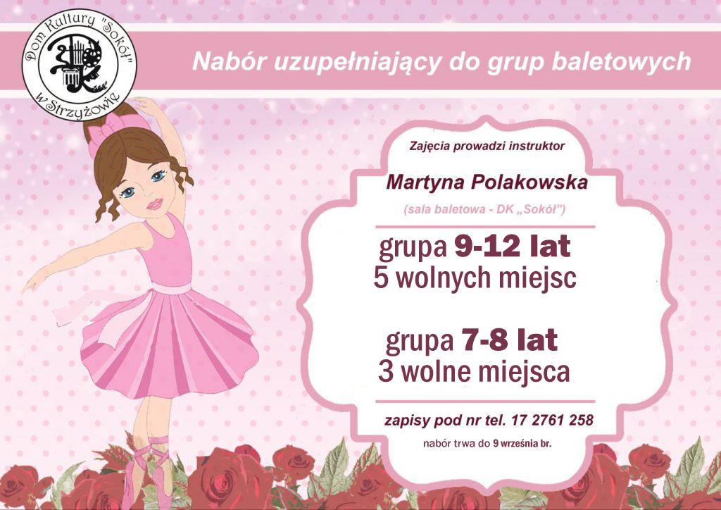 Nabór uzupełniający do grup baletowych 2020