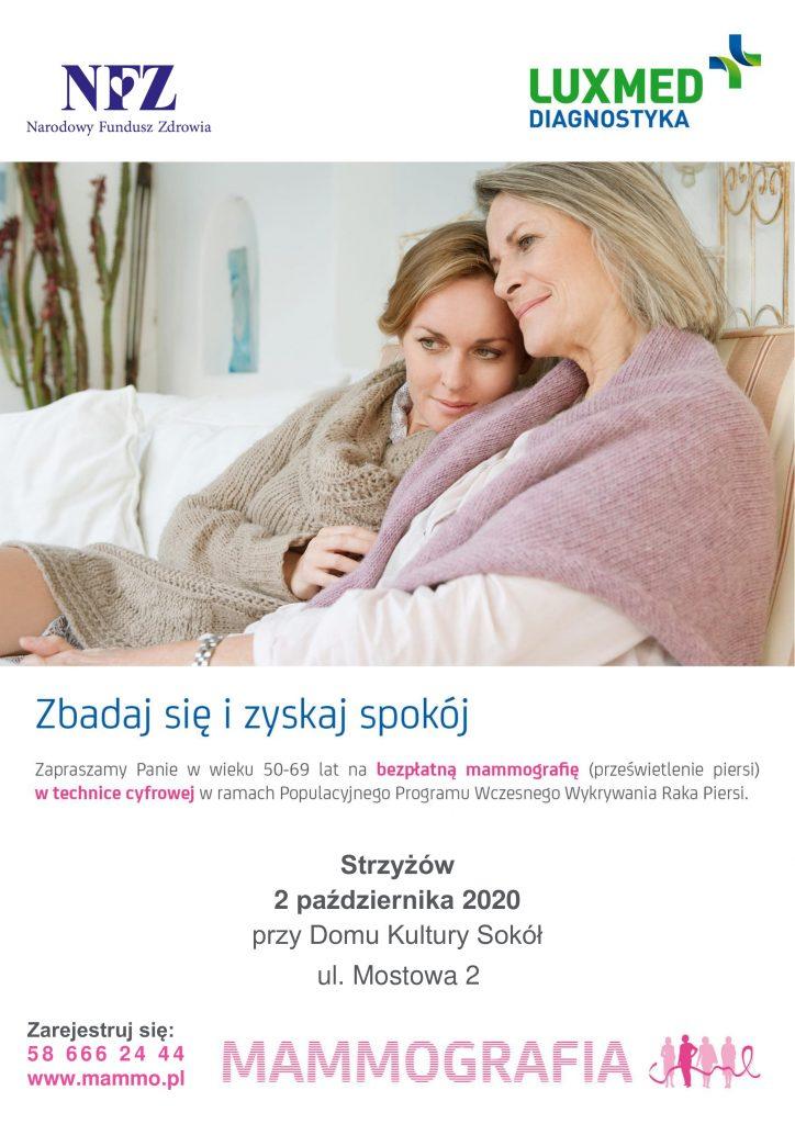 Bezpłatne badania mammograficzne LUX MED – Strzyżów
